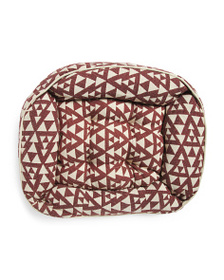 MADE IN INDIA Made In India Aztec Jacquard Pet Bed