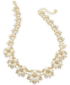 Charter Club Gold-Tone Crystal and Imitation Pearl