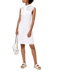 MICHAEL Michael Kors - Lace Tie-Neck Dress