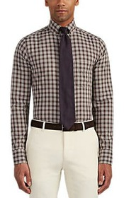 Tom Ford Checked Cotton Button-Down Shirt