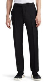 Valentino Worsted Mohair-Wool Straight Trousers