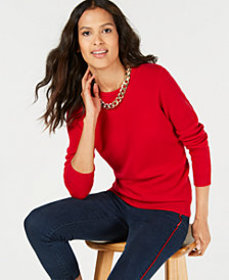 Charter Club Pure Cashmere Solid Crewneck Sweater