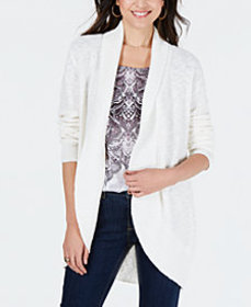 Style & Co Shawl-Lapel Open-Front Cardigan, Create