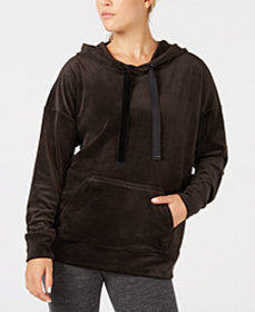 Ideology Velour Drop-Shoulder Hoodie, Created for