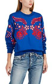 Cynthia Rowley Bleecker Embroidered French Terry S