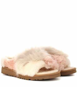 Ugg Patchwork Fluff shearling slippers
