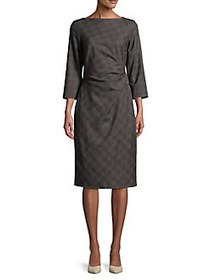 Weekend Max Mara Long Sleeve Plaid Sheath Dress CO