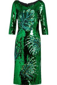 DOLCE & GABBANA Embellished mesh dress