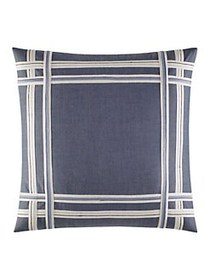 Nautica Fairwater Bedding Chambray Taped Pillow BL
