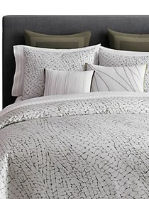 Vera Wang Dragonfly Wing Queen Duvet Cover WHITE