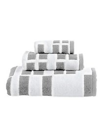 DKNY High Rise Cotton Tip Towel WHITE