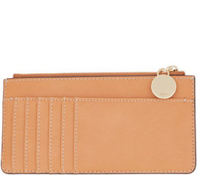 """As Is"" G.I.L.I. Leather Zip Top Card Case-Lucca -"