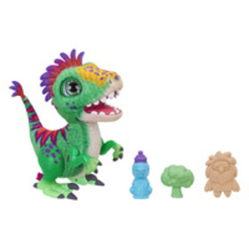 furReal Munchin' Rex Baby Dino Pet, 35+ Sound and