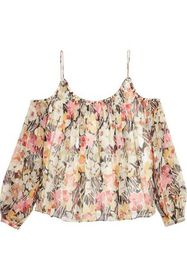 ELIZABETH AND JAMES Maylin off-the-shoulder floral