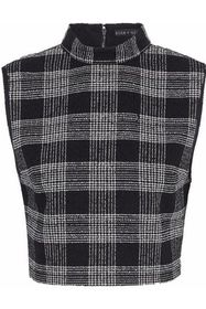 ALICE + OLIVIA Garland cropped checked bouclé-twee