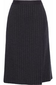 MAX MARA Eracle wrap-effect pinstriped wool and co