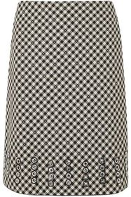 BOTTEGA VENETA Eyelet-embellished gingham cotton a