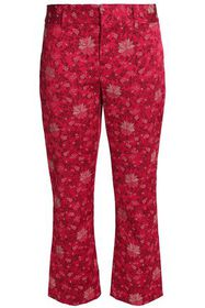 ALICE + OLIVIA Cropped floral-jacquard bootcut pan