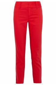 ALICE + OLIVIA Cadence cropped cotton-blend tapere