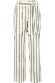 REBECCA MINKOFF Molly striped cotton wide-leg pant