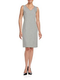 Nipon Boutique V-Neck Sheath Dress GREY BLACK