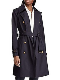 Lauren Ralph Lauren Double-Breasted Cotton Trench