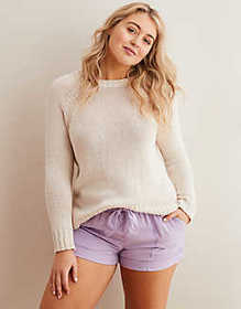 American Eagle Aerie Heathered Crew Sweater