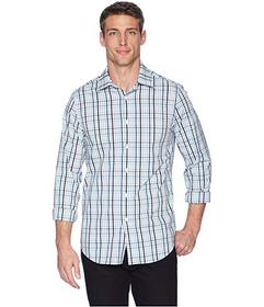 Perry Ellis Multicolor Check Resist Spill Shirt