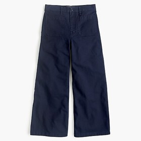 J. Crew Point Sur washed wide-leg crop pant