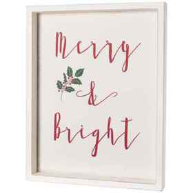 """Sixtrees 16x20"""" Merry and Bright Wall Art in See P"""