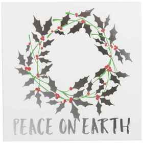 """Sixtrees 12x12"""" Peace On Earth Wall Art in See Pho"""