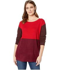 Vince Camuto Long Sleeve Crew Neck Color Block Swe