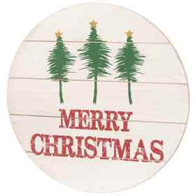 """Sixtrees 16"""" Round Cutout Christmas Wall Art in Se"""