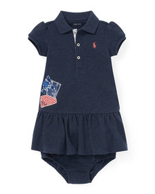 Ralph Lauren Childrenswear Patchwork Dress w/ Bloo