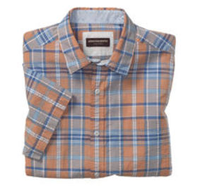 Johnston Murphy Short-Sleeve Seersucker Shirt