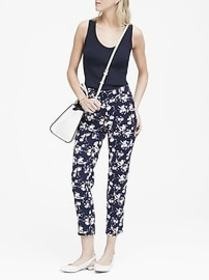 Petite Avery Straight-Fit Floral Ankle Pant