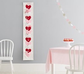 Pottery Barn Heart Valentine Advent