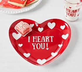 "Pottery Barn ""I Heart You"" Plate"