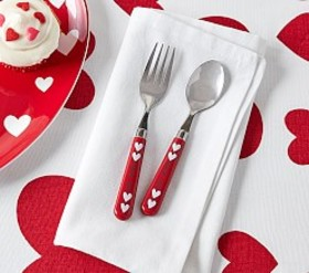 "Pottery Barn Peanuts® ""Be Mine"" Utensils"