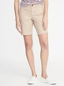 Mid-Rise Twill Everyday Bermuda Shorts for Women -