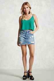 Forever21 Scoop-Neck Cropped Cami