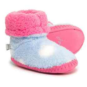 Joules Bootie Slippers (For Girls) in Sky - Closeo