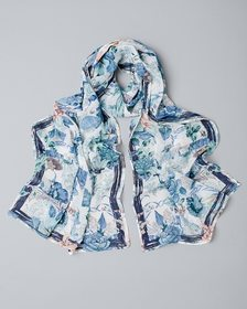 Fractured Floral Oblong Scarf