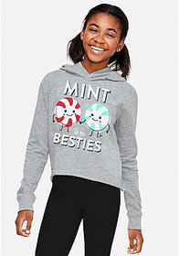 Justice Mint to be Besties Scented Graphic Hoodie