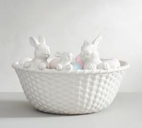 Pottery Barn Bunny Basket Serve Bowl