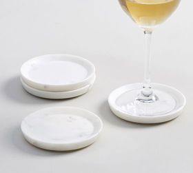 Pottery Barn White Marble Coasters