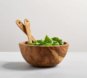 Pottery Barn Olive Wood Salad Bowl