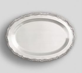 Pottery Barn Antique Silver Oval Tray