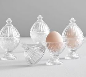 Pottery Barn Pressed Glass Egg Cup