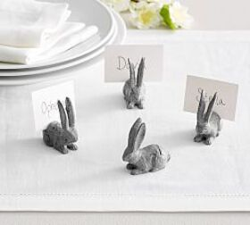Pottery Barn Essex Zinc Bunny Place Card Holder, S